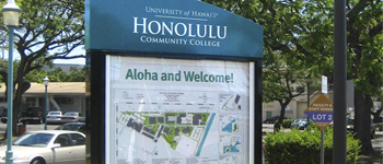 Honolulu Community College Campus Map.Campus Map Signs Prime Sign Program