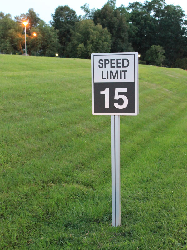 College Speed Limit Sign