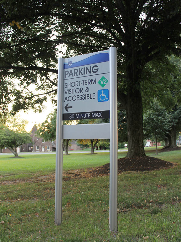 Campus Parking Sign