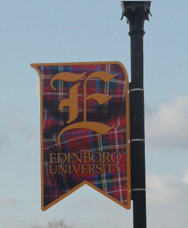 Exterior University Pole Banner Sign