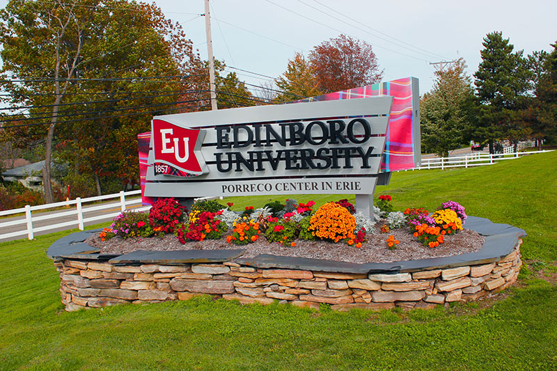 Exterior University Main Identification Sign