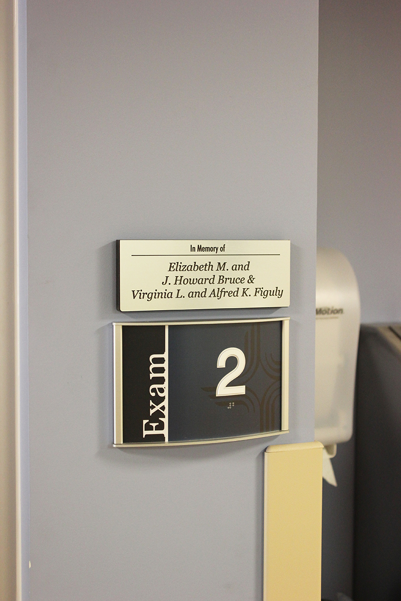 ada compliant room id and donor recognition sign