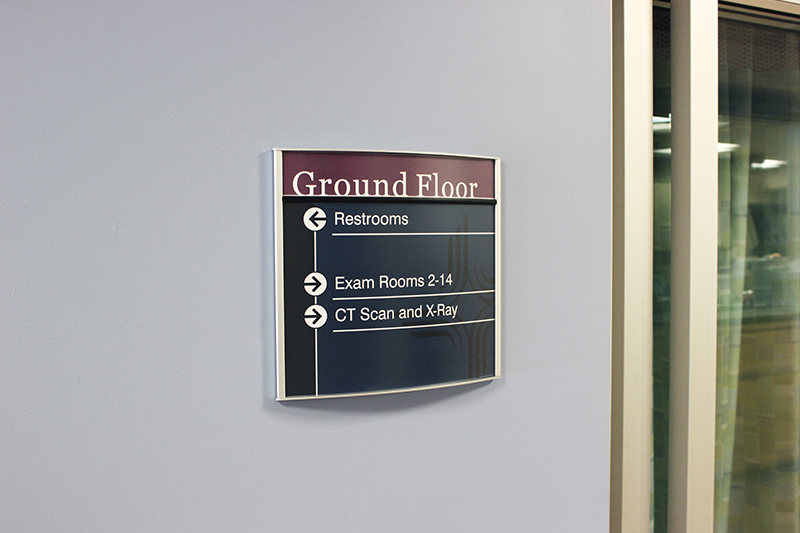 hospital directional sign