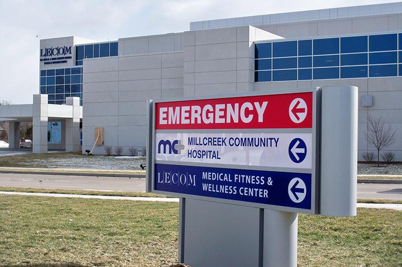 Lecom Medical Center Signage Case Study Prime Sign Program