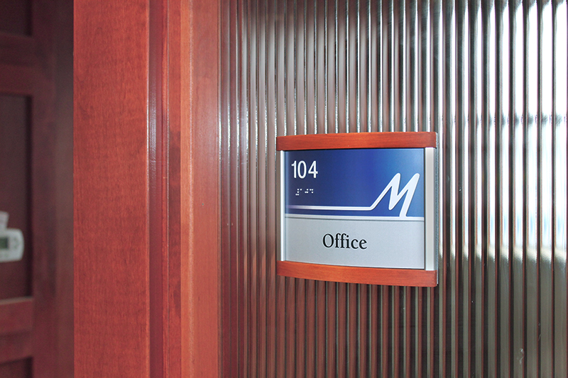 interior office sign