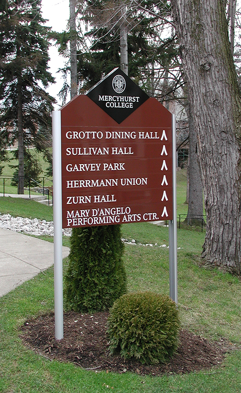 exterior campus directional sign
