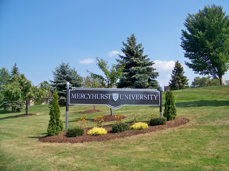 college campus main identification sign