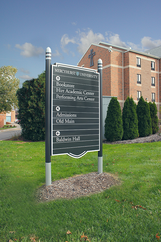 university directional sign