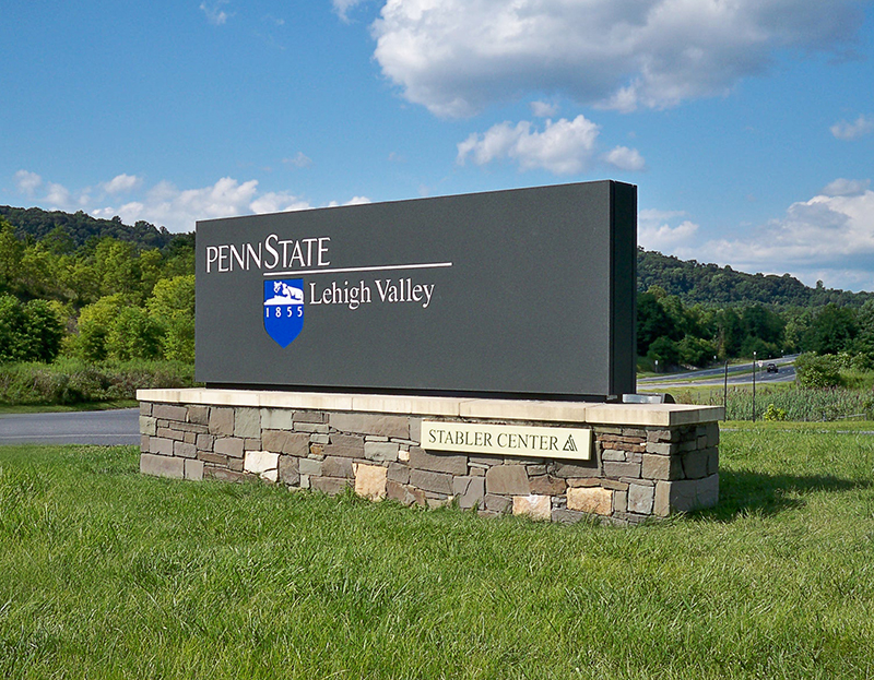 exterior university main identification signage