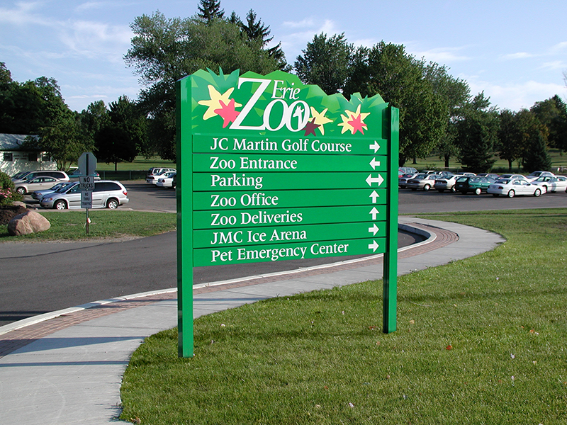 zoo wayfinding directional sign