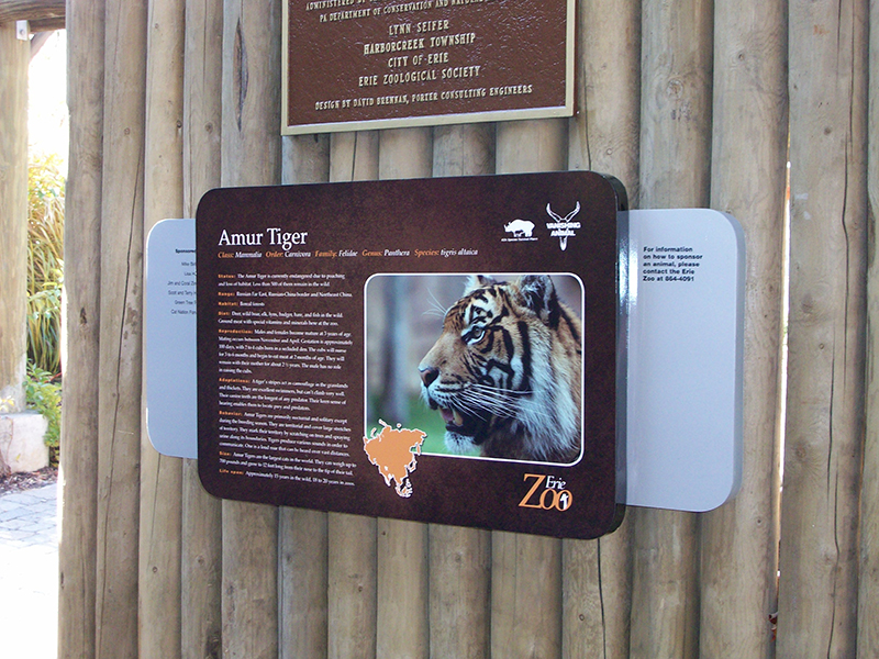 informative zoo sign