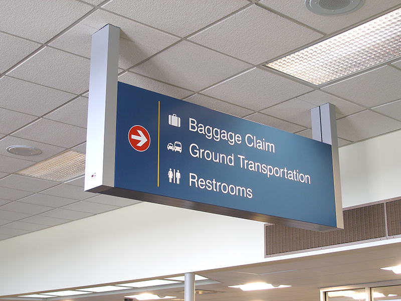 Airport Interior Navigation Signage