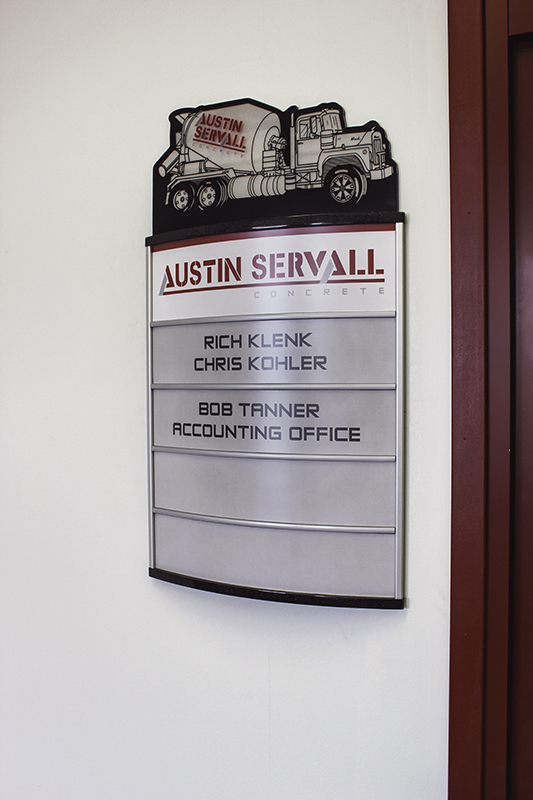 Commercial Business Indoor Signage: Building Directory