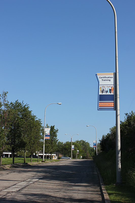 Boulevard Light Pole Banner Signage