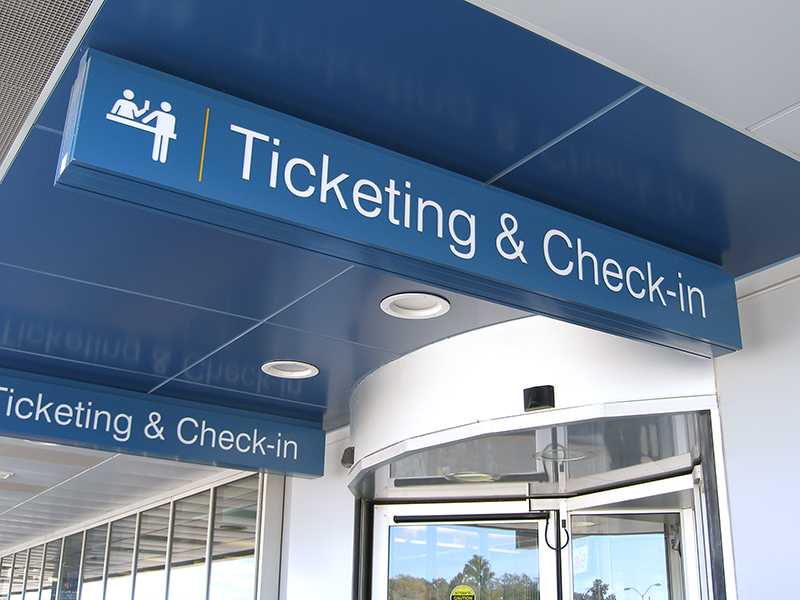 Interior Airport Navigation Signage