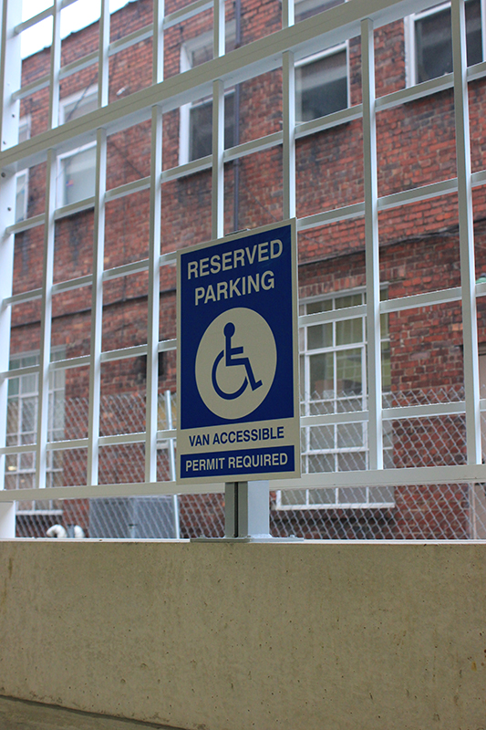 ADA Accessible parking sign