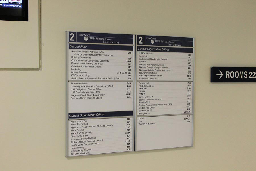Interior Building Directory And Directional Signage