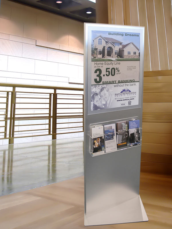 free standing directory kiosk sign