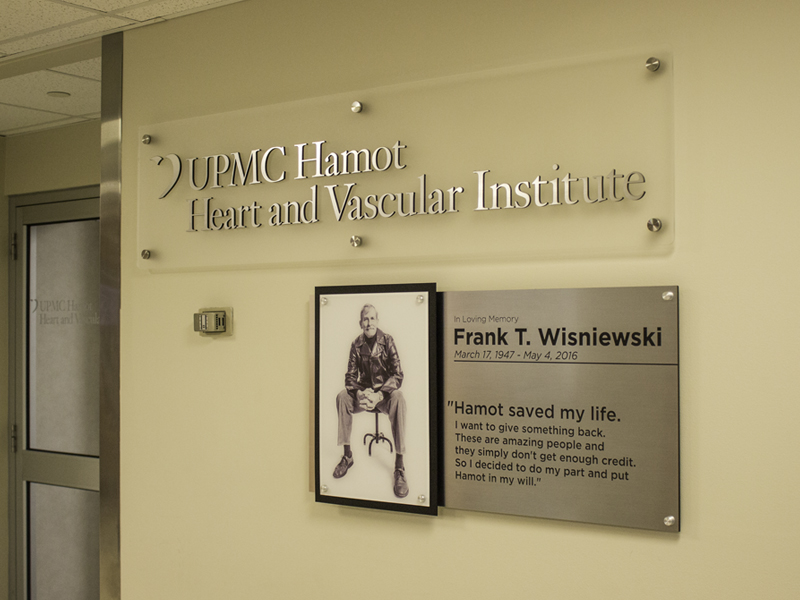 interior donor recognition sign