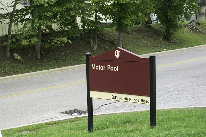 college campus exterior directional sign