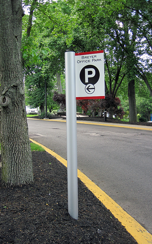 exterior parking lot id sign