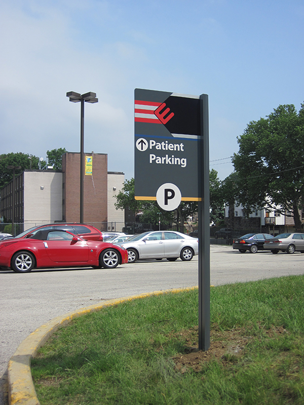 parking lot identification sign
