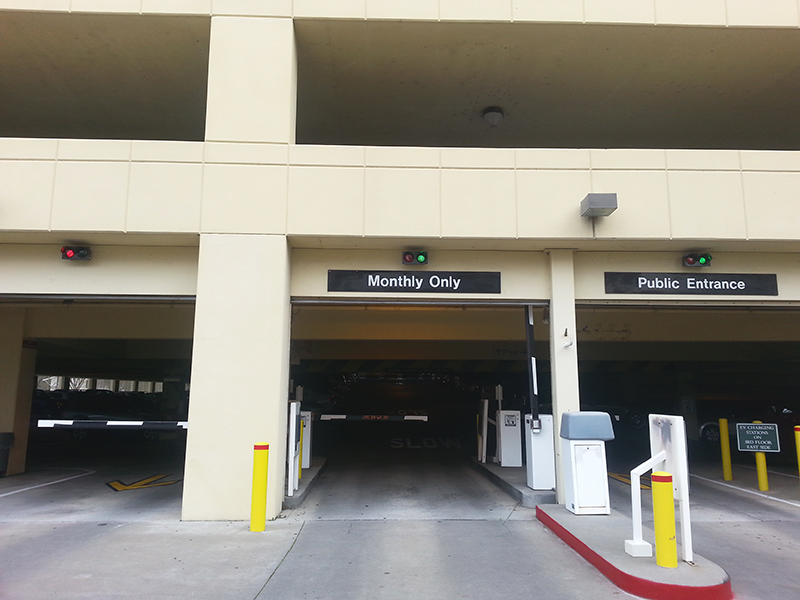 parking facility signs