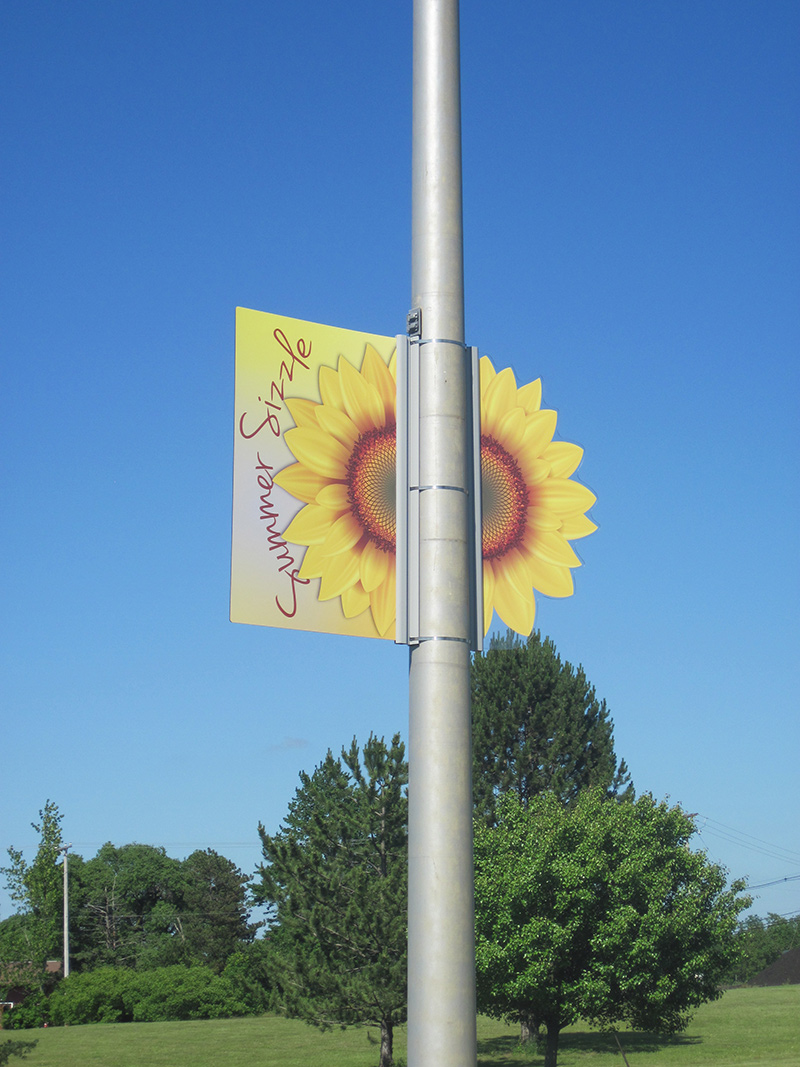 street pole banner sign