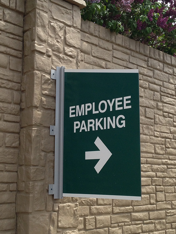 wall mount parking directional sign