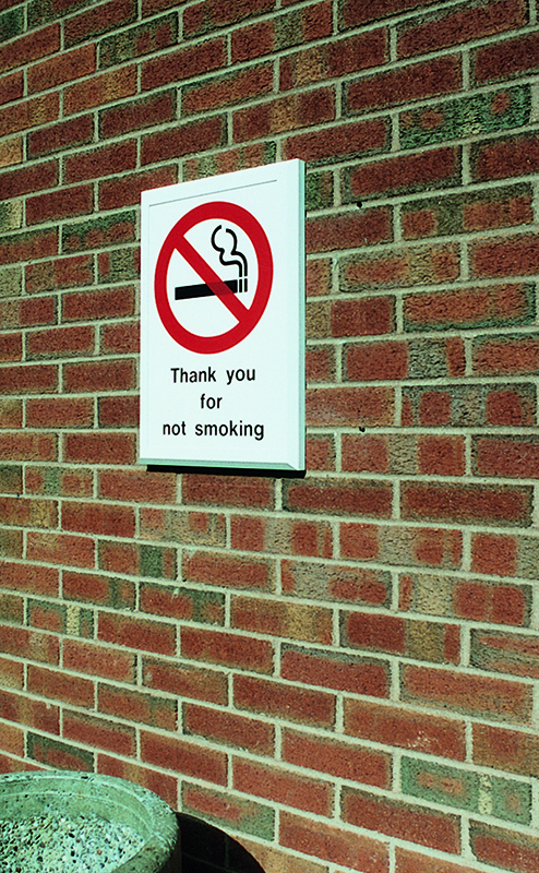 outdoor thank you for not smoking sign